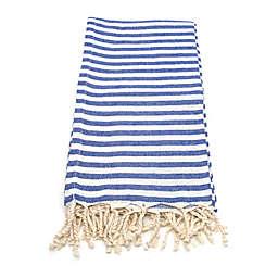 Linum Home Fun in the Sun Fouta Beach Towels in Blue