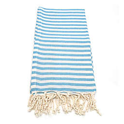 Linum Home Fun in the Sun Fouta Beach Towels in Turquoise