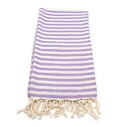 Linum Home Fun in the Sun Fouta Beach Towels in Lilac