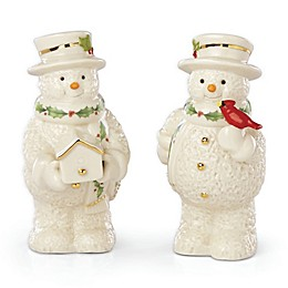 Lenox® Holiday™ Snowman Salt & Pepper Shakers in Ivory (Set of 2)