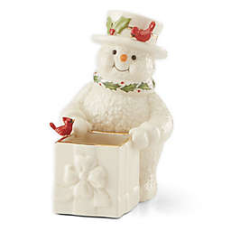 Lenox® Holiday™ Snowman Candy Dish in Ivory