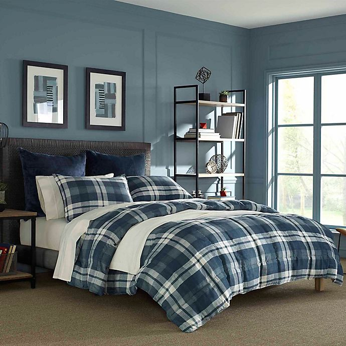 Alternate image 1 for Nautica® Crossview Plaid Reversible Comforter Set