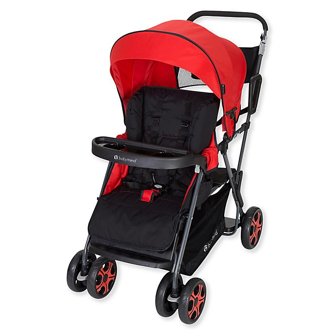 Alternate image 1 for Baby Trend® Sit 'N Stand® Double Stroller in Stanford Red