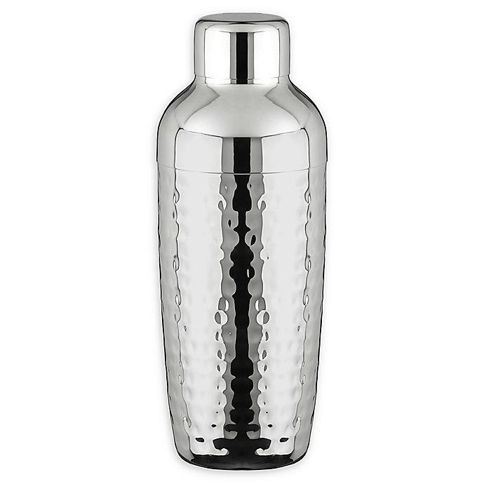Alternate image 1 for Hammered Stainless Steel Cocktail Shaker