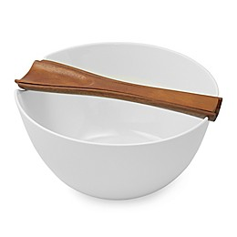 Nambe Quatro Salad Bowl with Servers