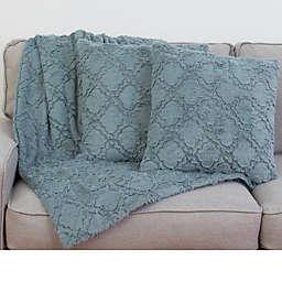 Thro by Mario Lorenz Mia 3-Piece Lattice Throw Blanket and Pillow Set