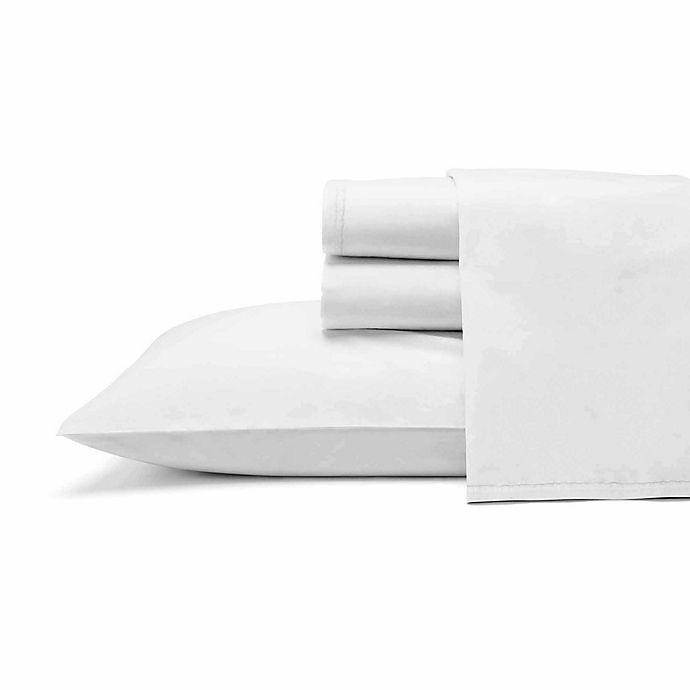 Alternate image 1 for ED Ellen DeGeneres Love Solid Twin Sheet Set in White