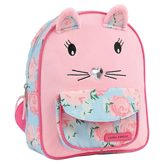 Alternate image 1 for Laura Ashley® Critter Cat Mini Backpack in Pink