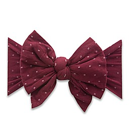 Baby Bling® XL Bow Dot Headband in Burgundy