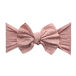 Baby Bling® Shabby Knot Dot Headband in Rose Gold