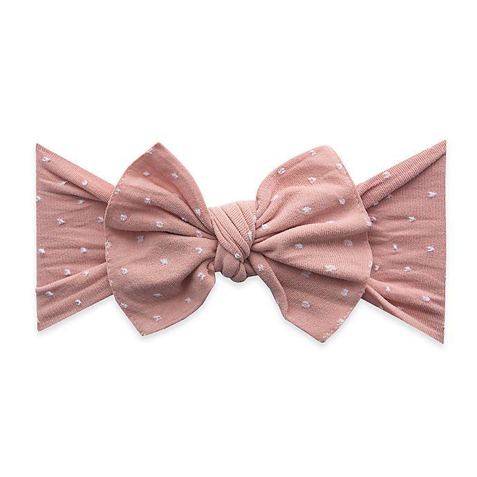 Alternate image 1 for Baby Bling® Shabby Knot Dot Headband in Rose Gold