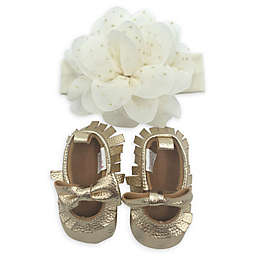 Curls & Pearls 2-Piece Gold Headband and Bootie Set