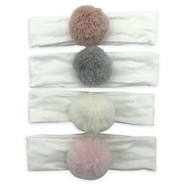 Curls & Pearls 4-Pack Pom-Pom Headbands