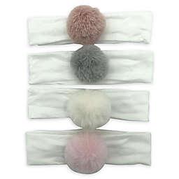 Curls & Pearls 4-Pack Pom-Pom Headbands