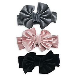 Curls & Pearls 3-Pack Velvet Bow Headbands