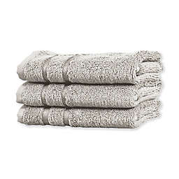 Cariloha® Turkish Cotton/Viscose Blend Hand Towels in Grey (Set of 3)