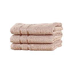 Cariloha® Turkish Cotton/Viscose Blend Washcloths in Blush (Set of 3)