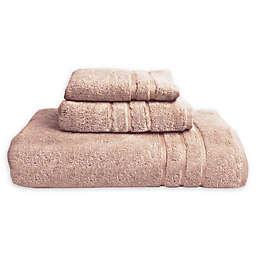 Cariloha® Turkish Cotton/Viscose Blend 3-Piece Bath Towel in Blush