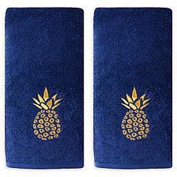 Saturday Knight Gilded Pineapple 2-Piece Hand Towel Set