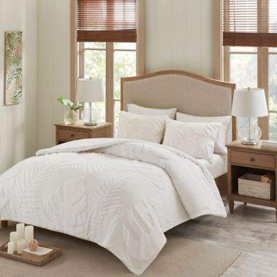Madison park bahari chenille palm duvet cover set bed - Bed bath and beyond palm beach gardens ...