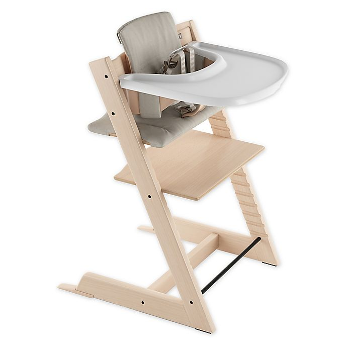 Alternate image 1 for Stokke® 4-Piece Tripp Trapp® High Chair Complete Bundle Set in Natural