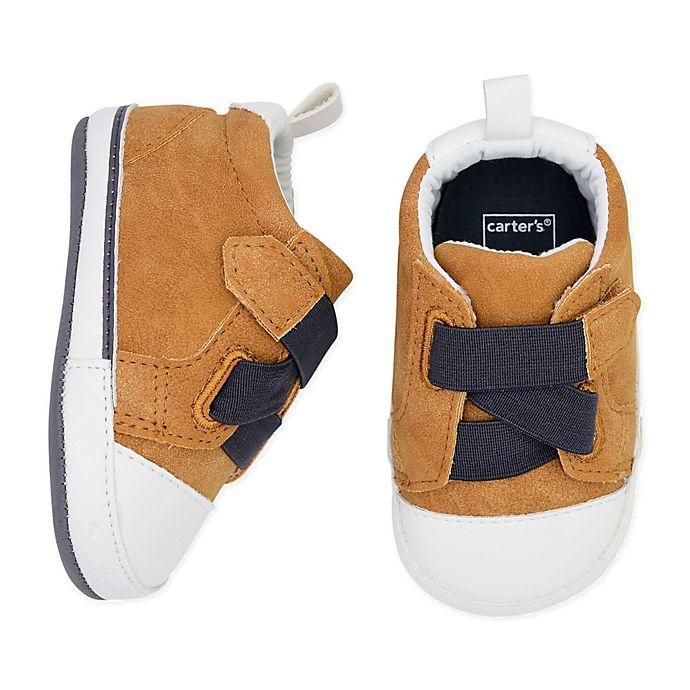 Alternate image 1 for carter's® Cross Strap Sneaker in Tan