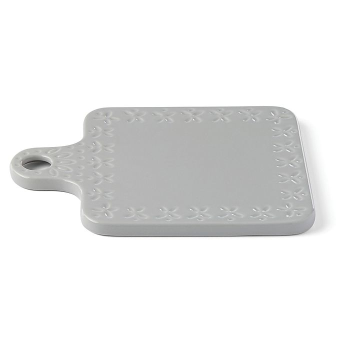 Alternate image 1 for kate spade new york Willow Drive Grey™ 9.75-Inch Square Cheese Board