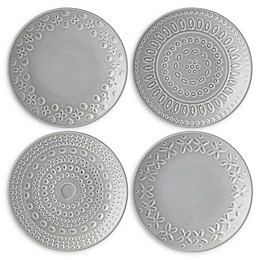 kate spade new york Willow Drive Grey™ Tidbit Plates (Set of 4)