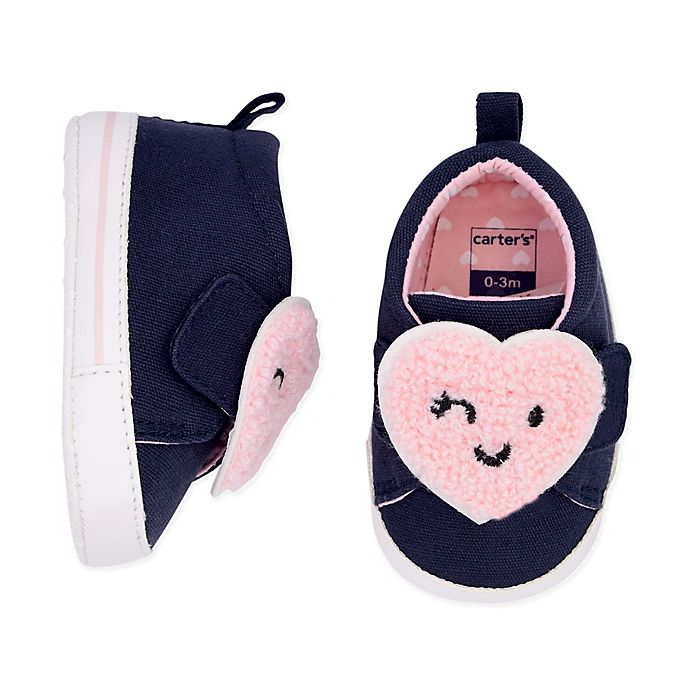 Alternate image 1 for carter's® Heart Patch Slip-On Shoe in Blue