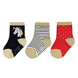 carter's® 3-Pack Holiday Unicorn Crew Socks