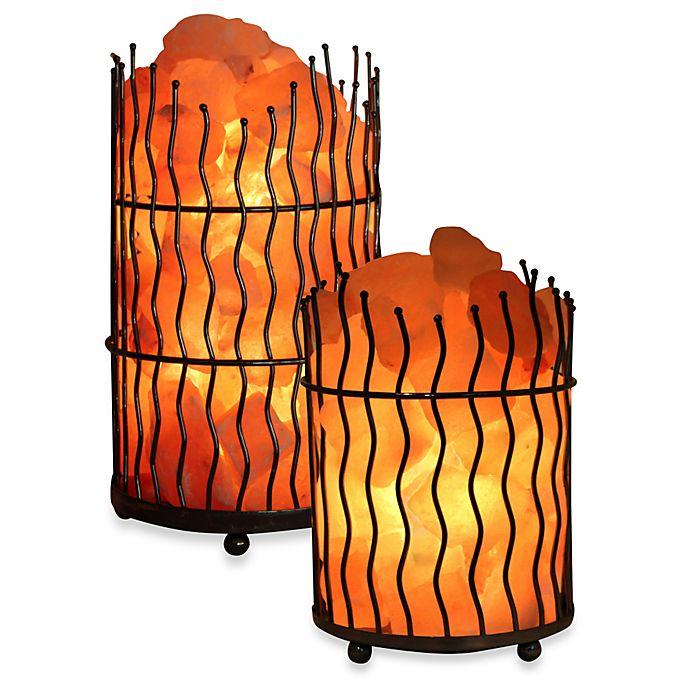 Alternate image 1 for Himalayan Glow® Ionic Salt Crystal Wavy Basket Lamp