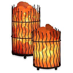 Himalayan Glow® Ionic Salt Crystal Wavy Basket Lamp