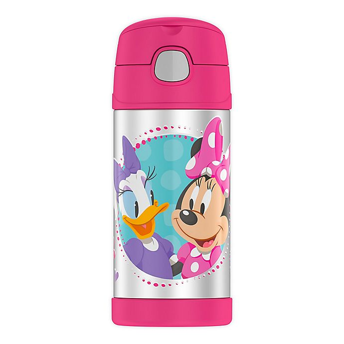 Alternate image 1 for Thermos® Funtainer™ 12-Ounce Minnie Mouse Beverage Bottle