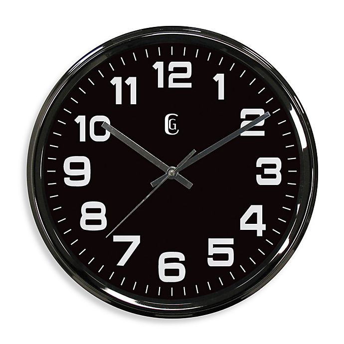 Kitchen Wall Decor Bed Bath And Beyond: Geneva Metal Wall Clock In Gunmetal Finish