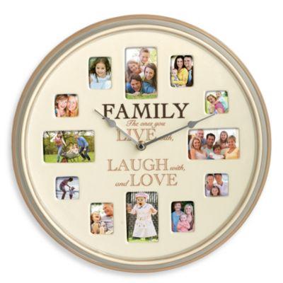 Ceramic Family Quot Live Laugh Love Quot Photo Frame Clock Bed
