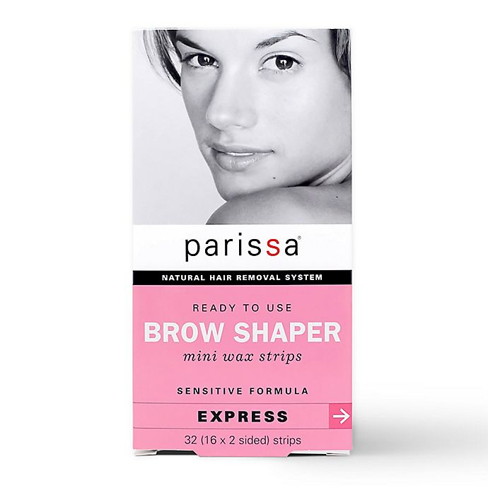 Alternate image 1 for Parissa® 32-Count Natural Hair Removal Mini Wax Strips Eyebrow Design