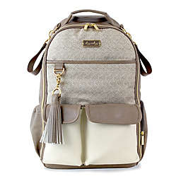 Itzy Ritzy® Backpack Diaper Bag in Herringbone Taupe