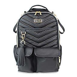 Itzy Ritzy® Stud Diaper Bag Backpack in Black/Gold