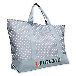 University of Miami Dot Tote Bag