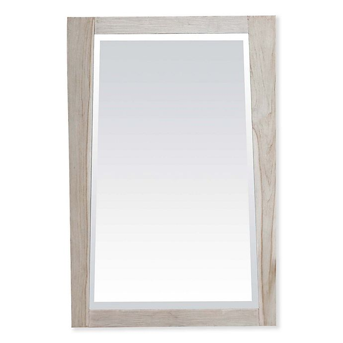 Alternate image 1 for EcoDecors Significance 24-Inch x 35-Inch Teak Wall Mirror in Rustic White
