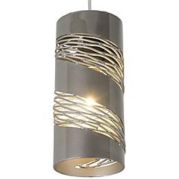 Varaluz® Flow 1-Light Mini Pendant in Steel