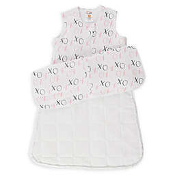günaPOD® XO Wearable Blanket with WONDERZiP® in Grey/Pink