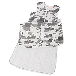 günaPOD® Small Clouds Wearable Blanket with WONDERZiP® in Grey