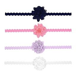 carter's® Size 0-12M 4-Pack Mini Plume Headbands