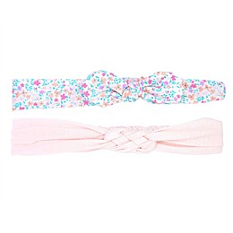carter's® Size 0-12M 2-Pack Bow and Knot Headbands in Pink