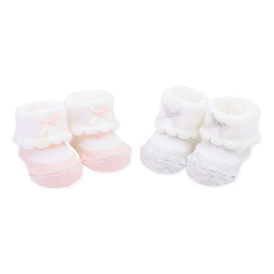 carter's® Newborn 2-Pack Mary Jane Keepsake Booties in Pink/Grey