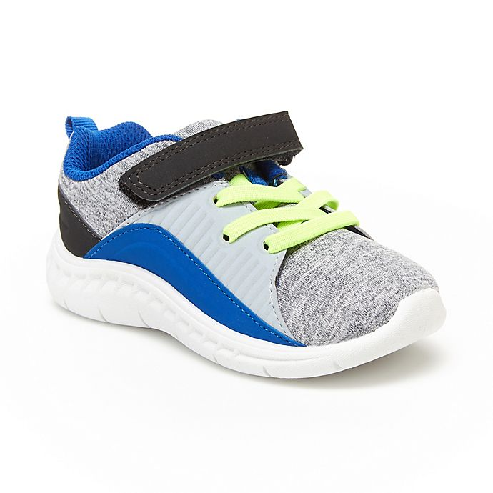 Alternate image 1 for carter's® Lee Sneakers in Grey/Blue