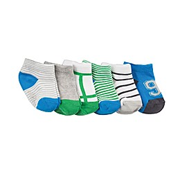 Robeez® 6-Pack Sporty Spencer Socks in Blue/Green