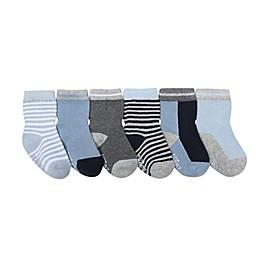 Robeez® 6-Pack Benjamin Socks in Blue