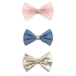 Capelli New York 3-Pack Bow Hair Clips